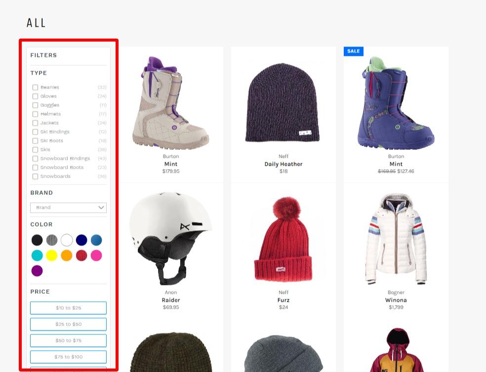 Shopifyの検索機能🔎を強化する絞込みアプリ4選の比較 4