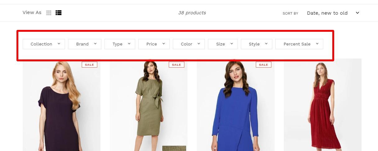 Shopifyの検索機能🔎を強化する絞込みアプリ4選の比較 6