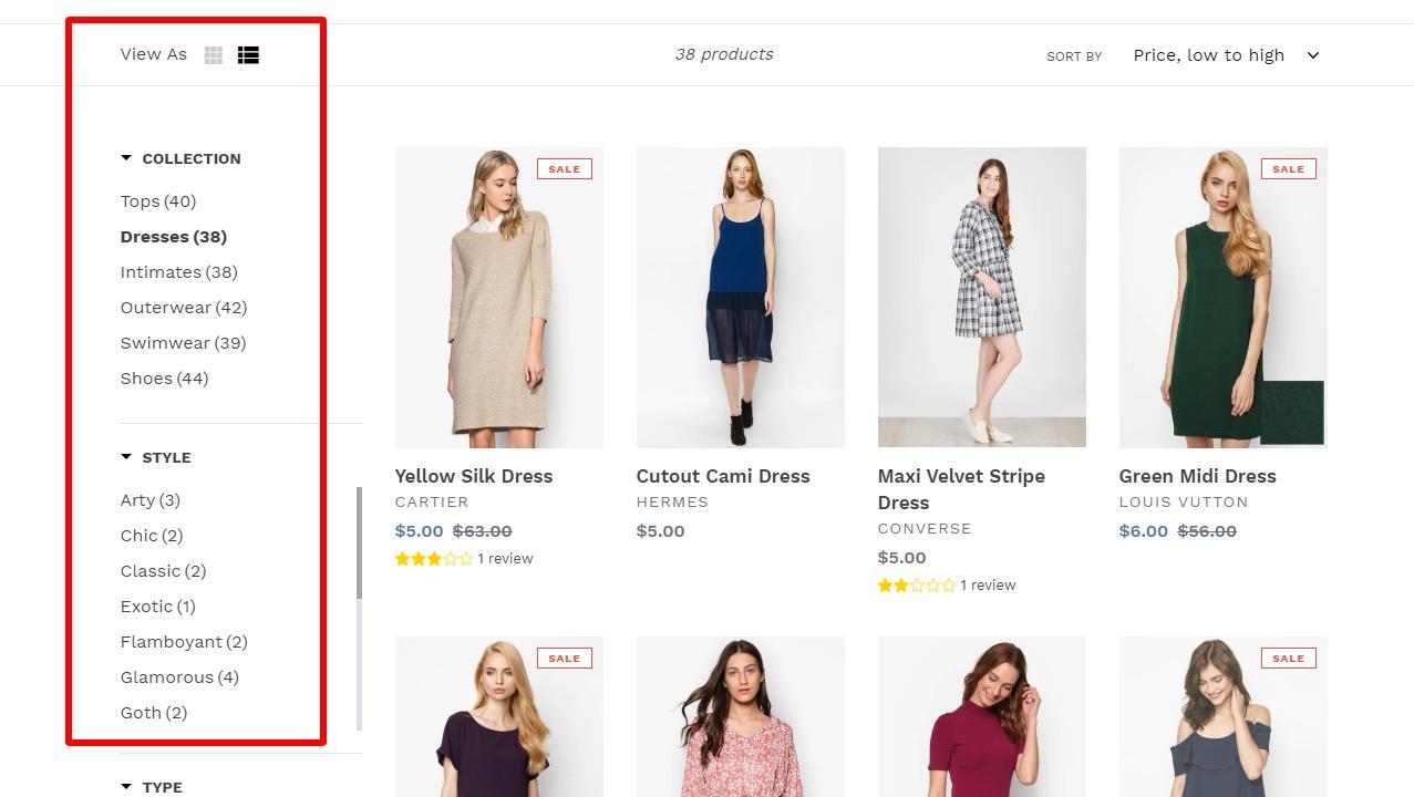 Shopifyの検索機能🔎を強化する絞込みアプリ4選の比較 7