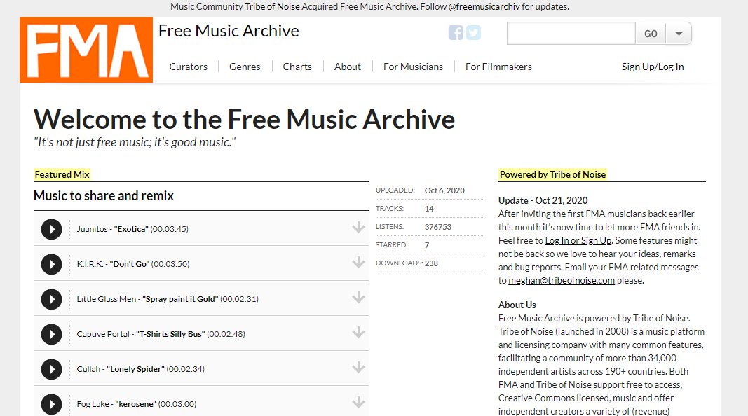 Free Music Archive 1